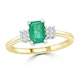 Emerald 0.65ct And Diamond 9K Gold Ring - image 2