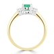 Emerald 0.65ct And Diamond 9K Gold Ring - image 3