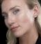 18K White Gold Princess Diamond Earrings - 1CT - H/SI - 4.8mm - image 2