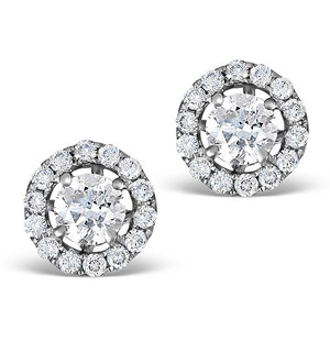 Ella Halo Lab Diamond Earrings set in 18K White Gold 0.84ct H/Si