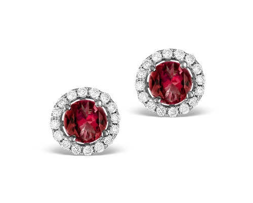 Ruby Halo Earrings