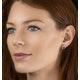 Pink Tourmaline 1.60CT and Diamond Halo Earrings 18K White Gold FG29 - image 3