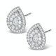 Halo Diamond Earrings 1.20ct Pear Shaped Galileo in 18K White Gold - image 2