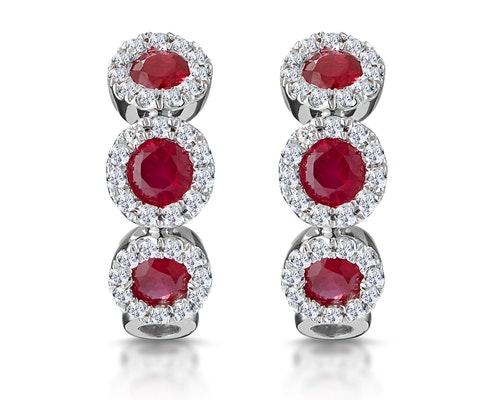 Ruby Huggy Earrings