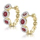 Ruby and Diamond Trilogy Earrings in 18K Gold - Asteria Collection - image 3