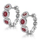 Ruby and Diamond Trilogy Earrings 18K White Gold - Asteria Collection - image 3