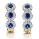 Sapphire and Diamond Trilogy Earrings in 18K Gold - Asteria Collection - image 1
