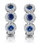Sapphire and Diamond Earrings 18K White Gold - Asteria Collection - image 1