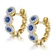 Sapphire and Diamond Trilogy Earrings in 18K Gold - Asteria Collection - image 3