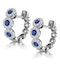 Sapphire and Diamond Earrings 18K White Gold - Asteria Collection - image 3