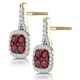 1.05ct Ruby and Diamond Halo Earrings in 18K Gold - Asteria Collection - image 3