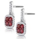 1.05ct Ruby and Diamond Halo Earrings 18KW Gold - Asteria Collection - image 3