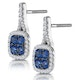 1ct Sapphire and Diamond Halo Earrings 18KW Gold - Asteria Collection - image 3