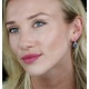 1ct Sapphire and Diamond Halo Earrings 18KW Gold - Asteria Collection - image 2