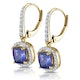 1ct Tanzanite and Diamond Halo Earrings 18K Gold - Asteria Collection - image 3