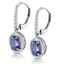 1.6ct Tanzanite and Diamond Halo Earrings 18KW Gold Asteria Collection - image 3