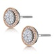 Diamond and Pink Diamond Halo Asteria Circle Earrings 18K Rose Gold - image 3