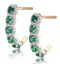 1.20ct Emerald and Diamond Halo Asteria Earrings in 18K Gold - image 2