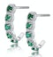 1.20ct Emerald and Diamond Halo Asteria Earrings in 18K White Gold - image 2
