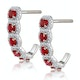 1.50ct Ruby and Diamond Halo Asteria Earrings in 18K White Gold - image 2