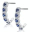 1.50ct Sapphire Diamond Halo Asteria Earrings in 18K White Gold - image 2