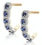 1.50ct Sapphire Diamond Halo Asteria Earrings in 18K Gold - image 2