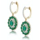 2.50ct Emerald Asteria Collection Diamond Drop Earrings in 18K Gold - image 2