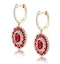 2.50ct Ruby Asteria Collection Lab Diamond Drop Earrings in 9K Gold - image 2