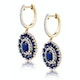 2.85ct Sapphire Asteria Collection Diamond Drop Earrings in 18K Gold - image 2