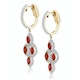 1.40ct Ruby Asteria Collection Diamond Drop Earrings in 18K Gold - image 2