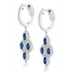 1.45ct Sapphire Asteria Diamond Drop Earrings in 18K White Gold - image 2