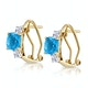 2.50ct Blue Topaz Asteria Collection Diamond Earrings in 18K Gold - image 2