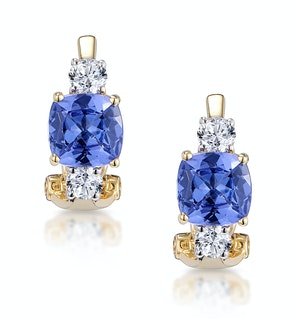 2.20ct Tanzanite Asteria Collection Diamond Earrings in 18K Gold