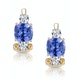2.20ct Tanzanite Asteria Collection Diamond Earrings in 18K Gold - image 1