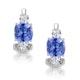 2.20ct Tanzanite Asteria Collection Diamond Earrings 18K White Gold - image 1