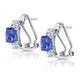 2.20ct Tanzanite Asteria Collection Diamond Earrings 18K White Gold - image 2