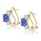2.20ct Tanzanite Asteria Collection Diamond Earrings in 18K Gold - image 2