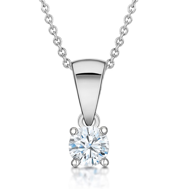 Chloe Platinum Diamond Solitaire Necklace 0.25CT G/VS - image 1
