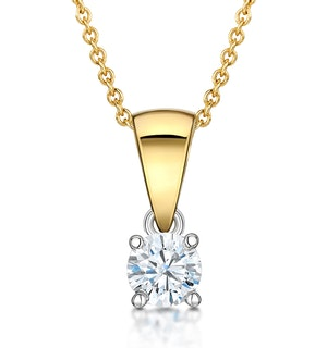 Chloe 18K Gold Lab Diamond Solitaire Necklace 0.25CT F/VS