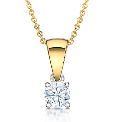 Chloe 18K Gold Lab Diamond Solitaire Necklace 0.25CT G/SI - image 1