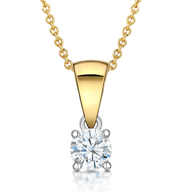 Chloe 18K Gold Lab Diamond Solitaire Necklace 0.25CT F/VS - image 1