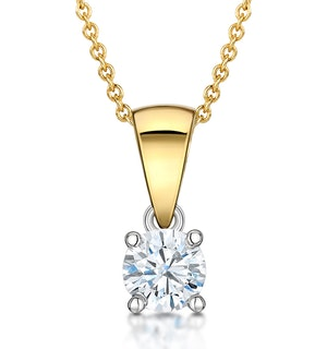 Chloe 18K Gold Lab Diamond Solitaire Necklace 0.33CT G/SI