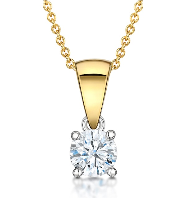 Chloe 18K Gold Diamond Solitaire Necklace 0.33CT H/SI - image 1