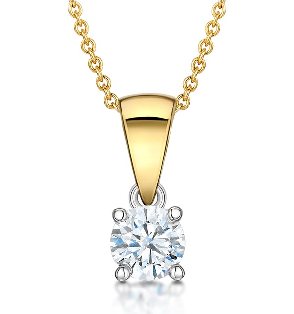 Chloe 18K Gold Lab Diamond Solitaire Necklace 0.33CT G/SI - image 1