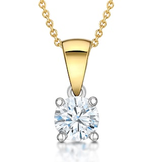 Chloe Certified 0.50ct Lab Diamond Solitaire Necklace 18K Gold H/SI1