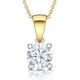Chloe Certified 1.00ct Diamond Solitaire Necklace in 18K Gold G/SI2 - image 1