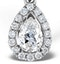 Ella 18K White Gold Diamond Pear Shape Pendant 0.70ct G/VS - image 3