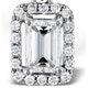 Ella 18K White Gold Diamond Emerald Cut Pendant 0.70ct G/VS - image 3