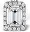 Ella 18K White Gold Diamond Emerald Cut Pendant 0.70ct H/SI - image 3