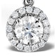Ella Lab Diamond Halo Necklace in Platinum 0.71ct G/VS1 - image 3
